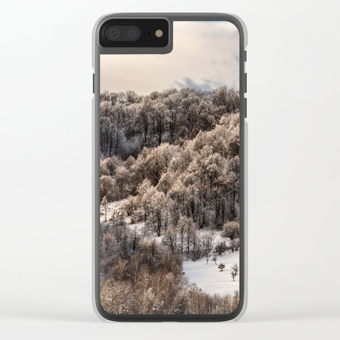Winter Landscape 3 Clear iPhone Case