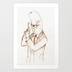 Hotdog Detective  Art Print