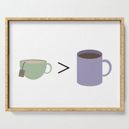 Tea vs Coffee Serving Tray