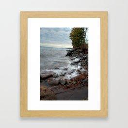 Waves on Lake Superior Framed Art Print