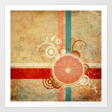 Slice of Citrus Abstract Art Print