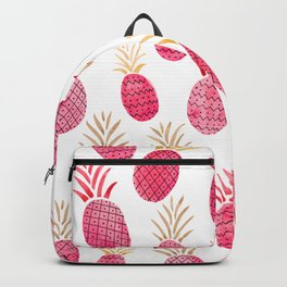 Pink Pineapple Watercolor Backpack