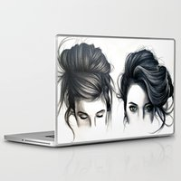 hair Laptop & iPad Skins featuring Hair by KatePowellArt