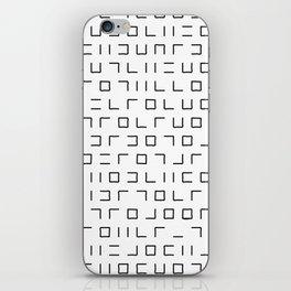 Code Breaker - Abstract, black and white, minimalist artwork iPhone Skin