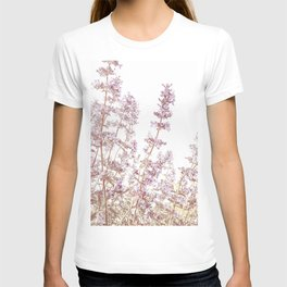 Soft Pink Wild Summer Flowers T-shirt