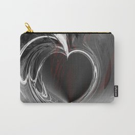 Heart black Carry-All Pouch
