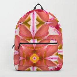 Retro Red and Yellow Flower Pattern Backpack