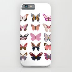 Pink Butterfly Collage iPhone 6s Slim Case