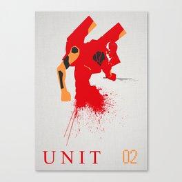 Evangelion Unit 02 Canvas Print