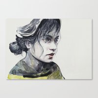 dragonfly Canvas Prints featuring Dragonfly by agnes-cecile