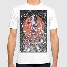 Snow White Mens Fitted Tee MEDIUM White