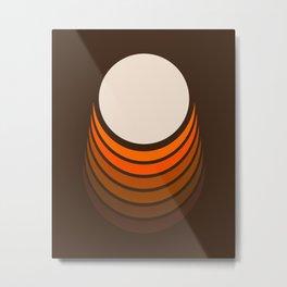 Golden Crescent Metal Print