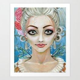 Marie Antoinette Faerie Art Print