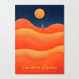 Lawrence of Arabia, vintage movie poster, David Lean, Peter O'Toole, Anthony Quinn, Omar Sharif Canvas Print