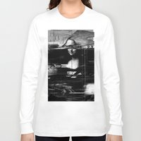 glitch Long Sleeve T-shirts featuring Mona Lisa Glitch by nicebleed