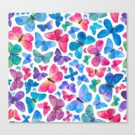 Watercolour Butterflies Canvas Print