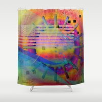 yellow submarine Shower Curtains featuring submarine by Kay Weber