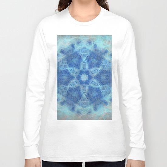 Wispy fairy kaleidoscope in blue Long Sleeve T-shirt