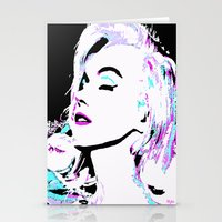marilyn Stationery Cards featuring Marilyn by Saundra Myles
