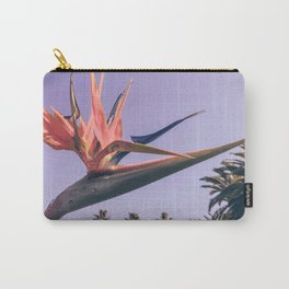 Birds of Paradise Print {2 of 3} | Palm Trees Ocean Summer Beach Magenta Photography Art Carry-All Pouch