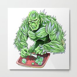 Monster 420 Metal Print