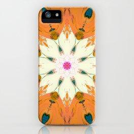 Bright Orange Mandala Design iPhone Case