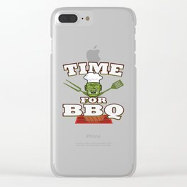 Funny Grill Party Grilling Master Ork Summer Gift Clear iPhone Case