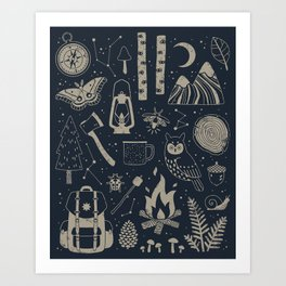 Into the Woods: Stargazing Art Print