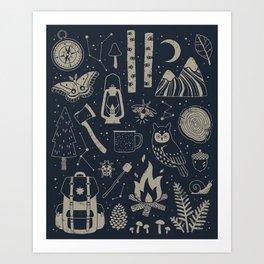 Into the Woods: Stargazing Kunstdrucke