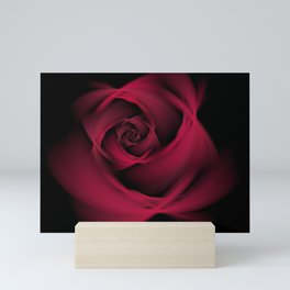 Abstract Rose Burgundy Passion Mini Art Print