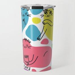 Blob Cats Travel Mug