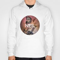 neil gaiman Hoodies featuring Neil. by David