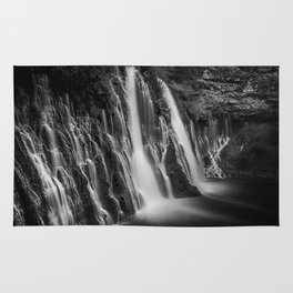 Burney Falls in Black and White Rug