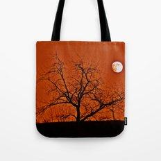 Red Sky Moon Tote Bag