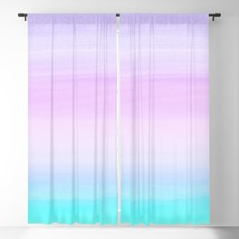 Touching Unicorn Girls Watercolor Abstract #1 #painting #decor #art #society6 Blackout Curtain