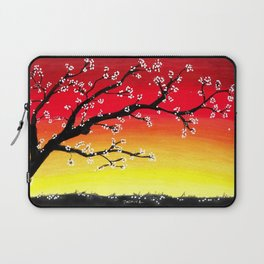 Drawing Sunset and a Blossom Tree Laptop Sleeve
