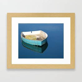 Blue Boat Framed Art Print