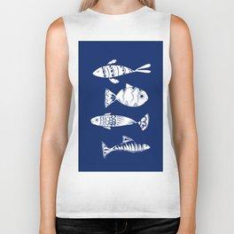 Sea fishes Biker Tank