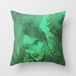 Green Circus Throw Pillow