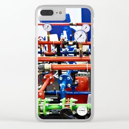 Piping with manometers for industry Clear iPhone Case
