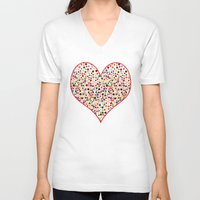 dot V-neck T-shirts featuring Dot... by DesignsByMarly