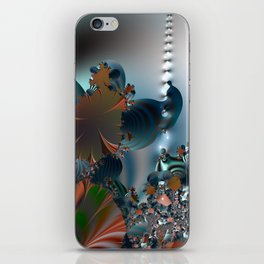 Follow me! -- Creatures in a fractal landscape iPhone Skin