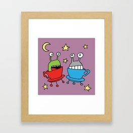 Space MiniMonsters Framed Art Print