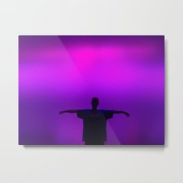 Purple light Metal Print