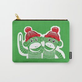 Sock Monkeys Art Carry-All Pouch