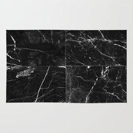 Black Granite Squares Rug