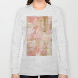 Rustic Gold and Pink Abstract Long Sleeve T-shirt