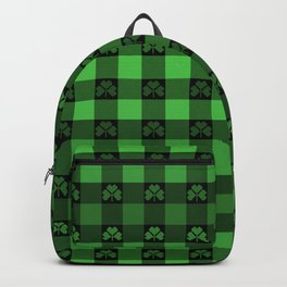 Shamrock Buffalo Plaid Ombre Backpack