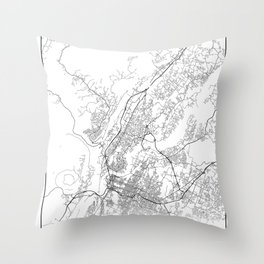 Minimal City Maps - Map Of Chattanooga, Tennessee, United States Throw Pillow