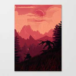 Under A Blood Moon Canvas Print